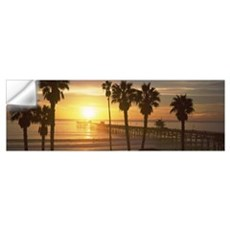 Silhouette of a pier, San Clemente Pier, Los Angel Wall Decal