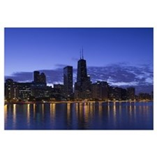 Buildings at the waterfront, Lake Michigan, Chicag