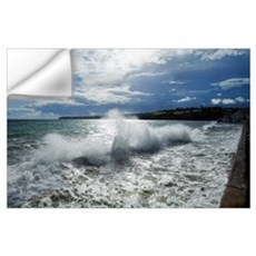 High Winds and Waves in the Bay, Tramore, County W Wall Decal