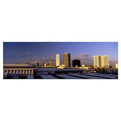 Cityscape Phoenix AZ Poster