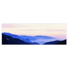 Sunset Sequoia National Park CA Poster