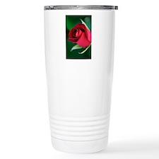 Red Rosebud Travel Mug