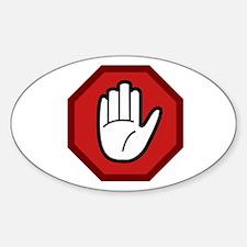 HANDS OFF Sticker (Oval 10 pk)