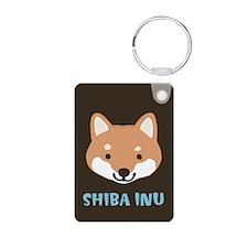 Shiba Inu Face Aluminum Photo Keychain