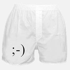 Wink Emoticon Boxer Shorts