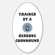 Redbone Coonhound Oval Decal
