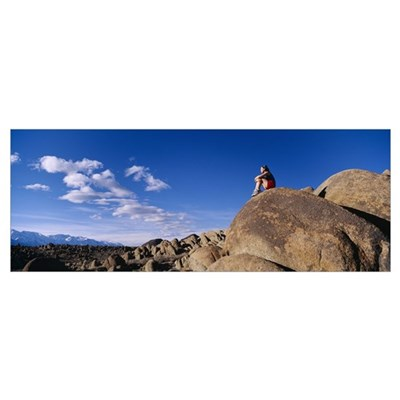 Woman Alabama Hills Lone Pine CA Poster
