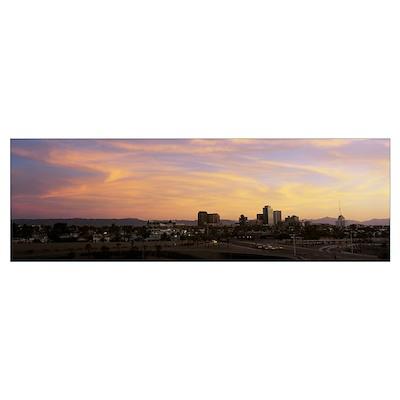 Sunset Skyline Phoenix AZ Poster
