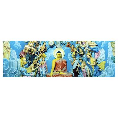 Buddhist Temple Sri Pushparama Sri Lanka Poster