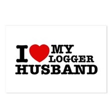 I love my Logger Husband Postcards (Package of 8)