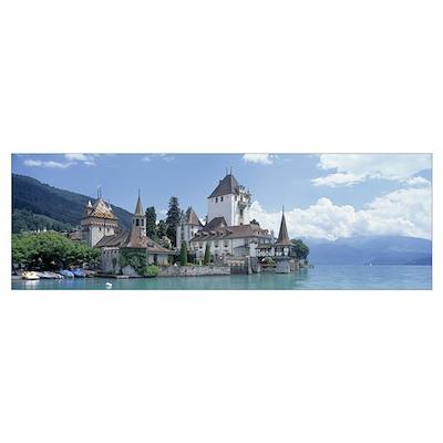 Oberhofen Castle Lake Thuner Switzerland Poster