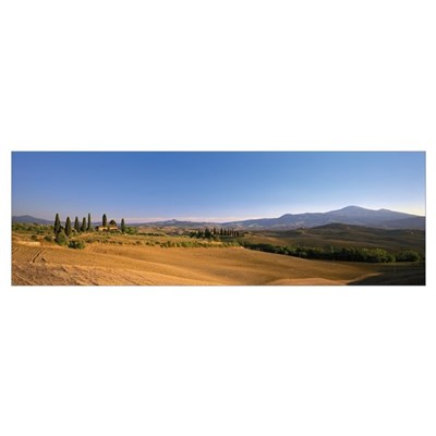 Landscape Tuscany Italy Poster