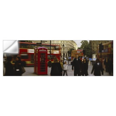 Phone Booth Trafalgar Square London England Wall Decal