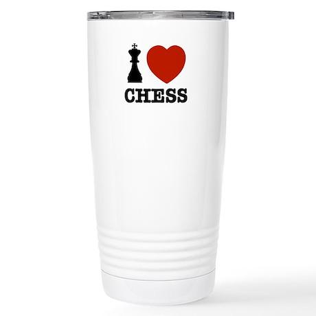 I love Chess Stainless Steel Travel Mug