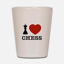 I love Chess Shot Glass