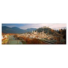 Cityscape Salzburg Austria Poster