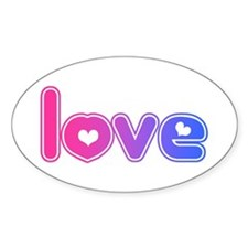 bisexual love Oval Decal