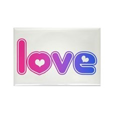 bisexual love Rectangle Magnet