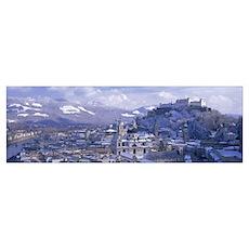 Winter Salzburg Austria Poster