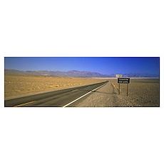 Desert Road Death Valley CA Poster