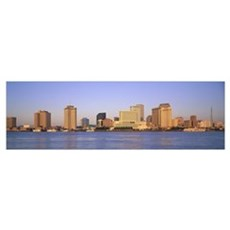 Sunrise Skyline New Orleans LA Framed Print