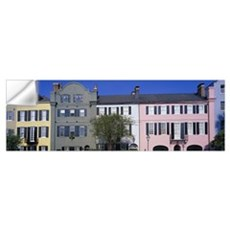 Rainbow Row Historic District Charleston SC Wall Decal