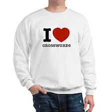 I love Crosswords Sweatshirt