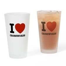 I love Crosswords Drinking Glass