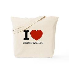 I love Crosswords Tote Bag
