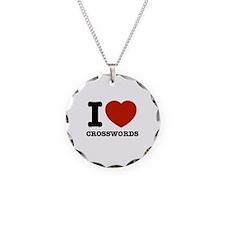 I love Crosswords Necklace