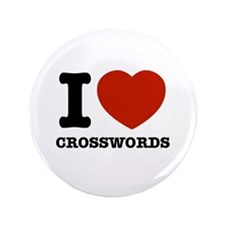 "I love Crosswords 3.5"" Button"