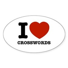 I love Crosswords Decal