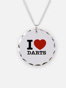 I love Darts Necklace