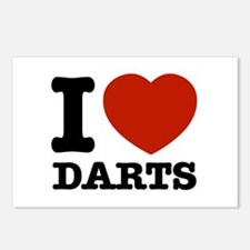 I love Darts Postcards (Package of 8)
