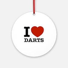 I love Darts Ornament (Round)