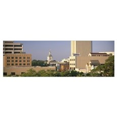 Capitol Building Skyline Tallahassee FL Framed Print