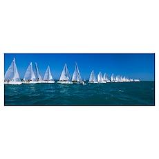 Sailboat Race Key West FL Poster