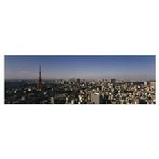 High angle view of a city, Tokyo, Japan Poster