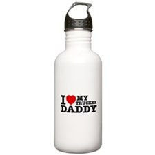 I love My Trucker Daddy Water Bottle