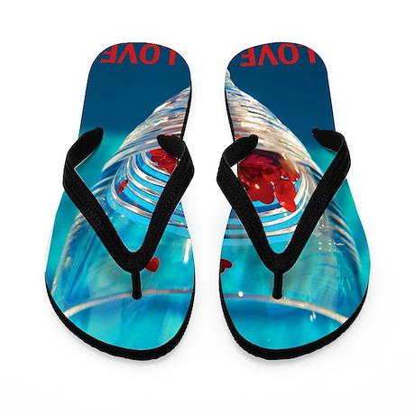 Glass of Hearts Flip Flops