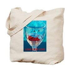Glass of Hearts Tote Bag