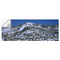 High angle view of residential buildings, Mt Warne Wall Decal