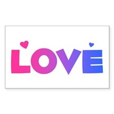 bisexual love Rectangle Decal