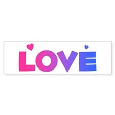bisexual love Bumper Bumper Sticker