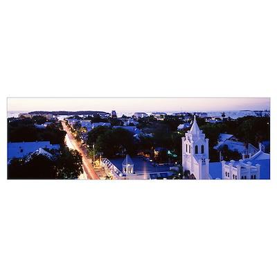 Florida, Key West, Duval Street Poster