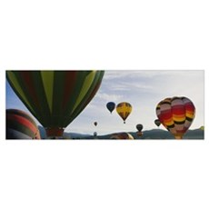 Hot air balloons in the sky, Taos, New Mexico Poster