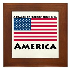 America Freedom Framed Tile