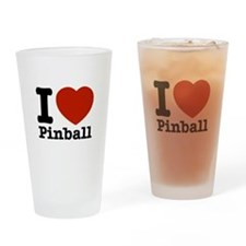 I love Pinball Drinking Glass