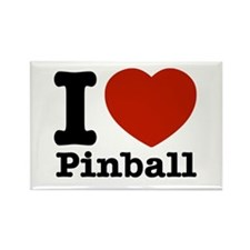 I love Pinball Rectangle Magnet