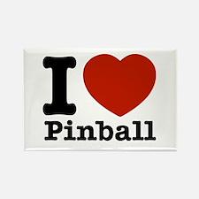 I love Pinball Rectangle Magnet